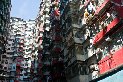 kirk pedersen urban asia photographs    Apartment Buildings, Hong Kong   2008