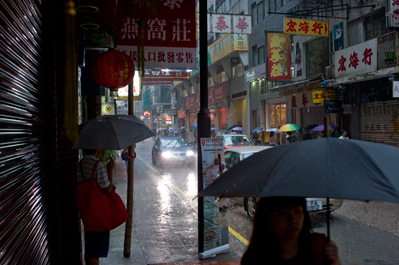kirk pedersen urban asia photographs    Afternoon Rain, Sheug Wan, Hong Kong   2009
