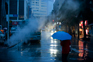 Kirk Pedersen Urban Photos - Night Rain, Dalian, China